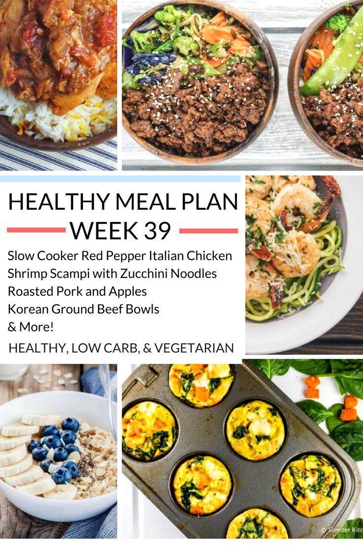 Healthy Meal Plans Week 39   Slender kitchen, Meals and Scampi