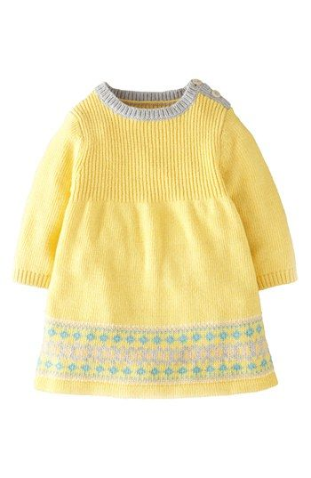 Mini Boden Fair Isle Knit Dress (Baby Girls) available at ...