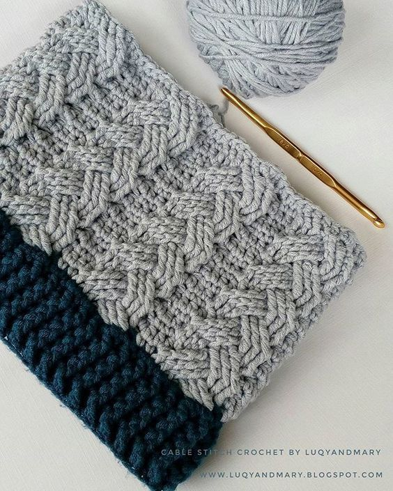 My First Cable Stitch Crochet So Challengingcrochet