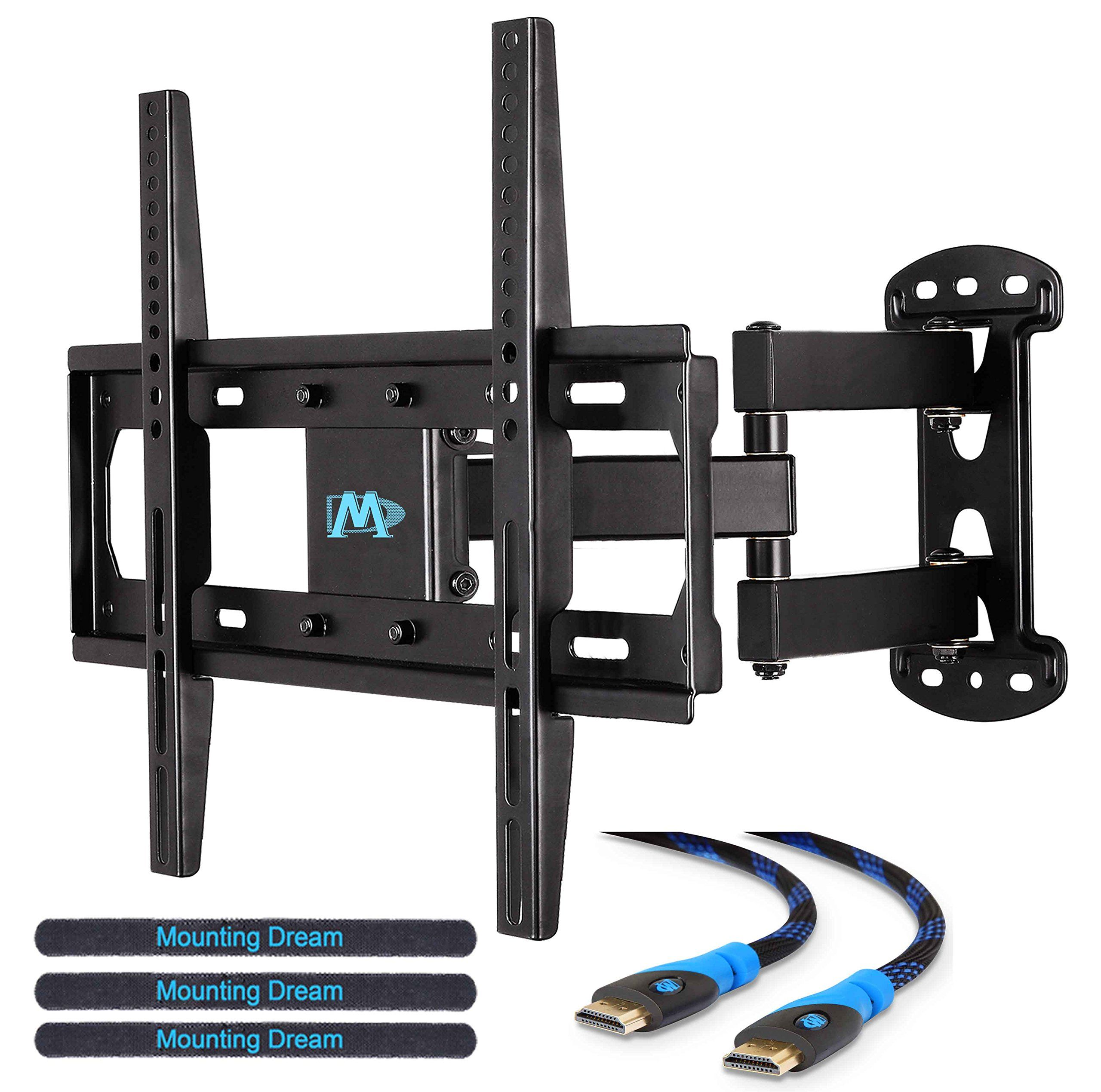 Mounting Dream Md2377 Tv Wall Mount Bracket For Most Of 26 55 Inch Led Lcd Oled And Plasma Flat Scre Wall Mounted Tv Tv Wall Mount Bracket Wall Mount Bracket