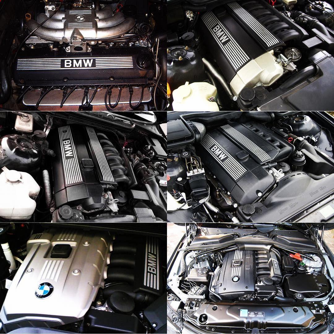 The Evolution Of Petrol Inline 6 Engines Bmw 3 Through History M20 1977 1993 M50 1990 1996 M52 1994 2000 M54 2006 N52 2004 2017 N53