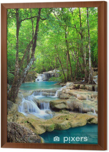 Erawan Waterfall, Kanchanaburi, Thailand Canvas Print • Pixers® - We live to change