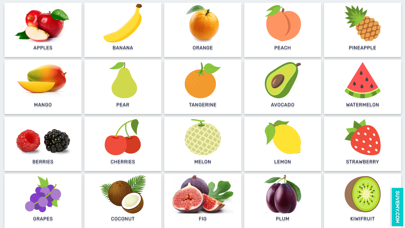 Image Result For Fruits Name In English With Pictures Full