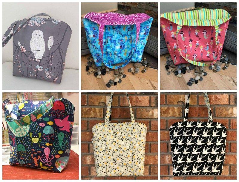 The Jillian Reversible Tote Sewing Pattern | sew bags | Pinterest