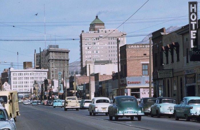 El Paso 1959 Street Scenes Street Scenes