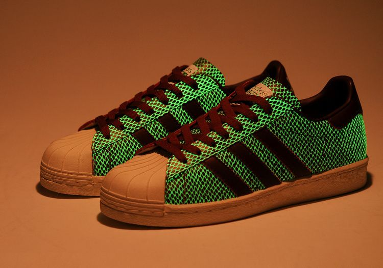 Atmos Adidas SUPERSTAR 80s G SNK IV Red Glow In The Dark Shoes ... adc94855a