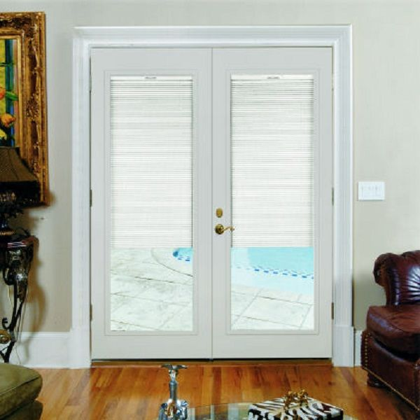 French Doors With Built In Blinds Door Designs Plans