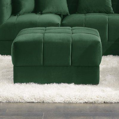 Enjoyable Mercer41 Epsom Tufted Ottoman Upholstery Color Emerald Beatyapartments Chair Design Images Beatyapartmentscom