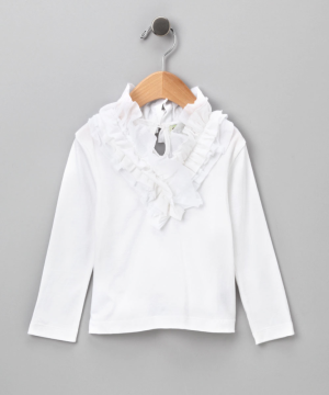 White Ruffle Tee - Infant, Toddler & Girls. White Ruffle Tee - Infant, Toddler & Girls