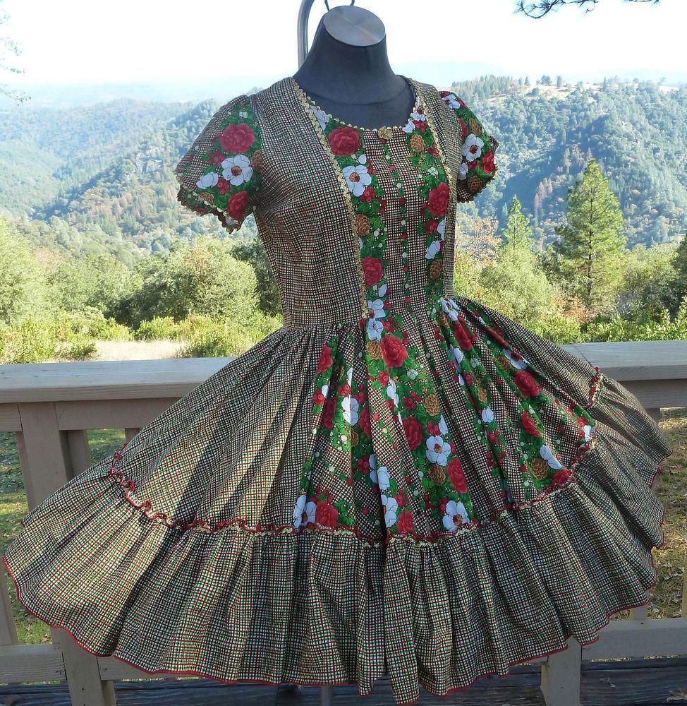 9fe7255dc6b1 1pc Square Dance Christmas Print Dress M/LG B 42 W 34 L21 | eBay More