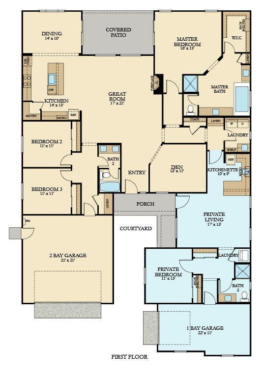 Three Bedroom Plus Den Picture Not Link Great Plan With