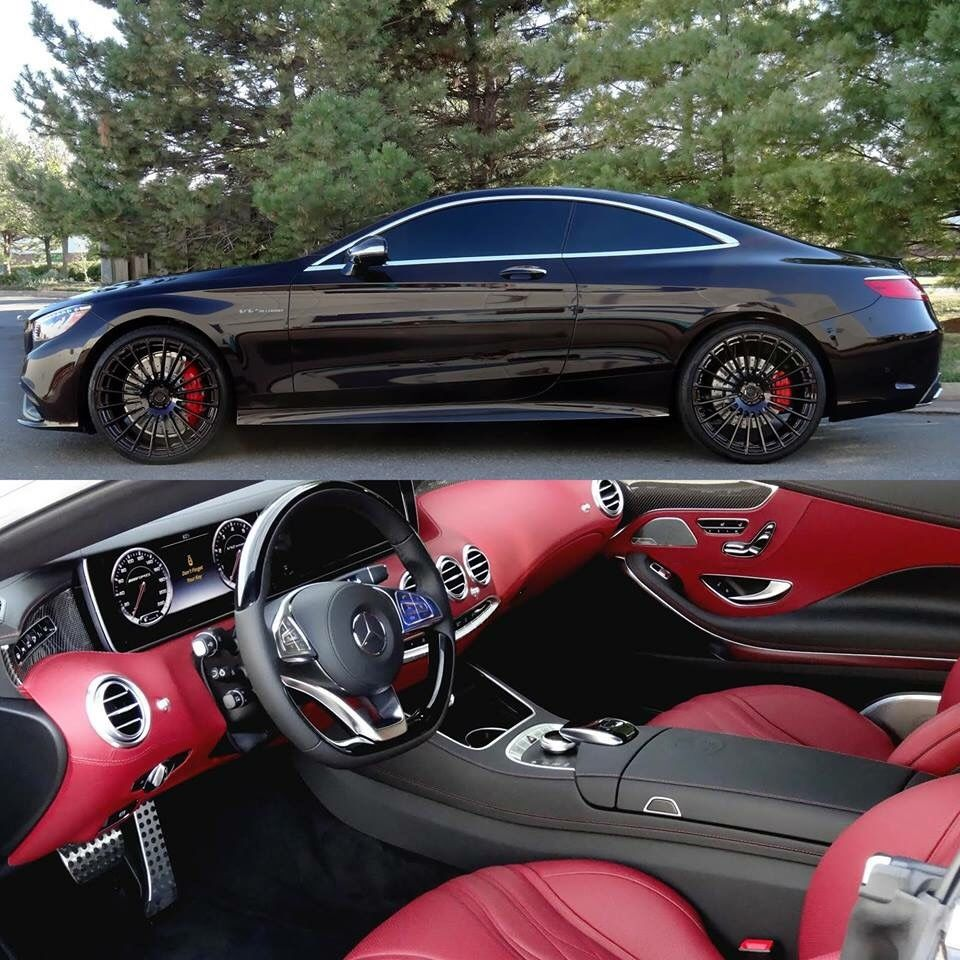 Mercedes Glc 250d Amg Line Coupe Cranberry Red Interior With