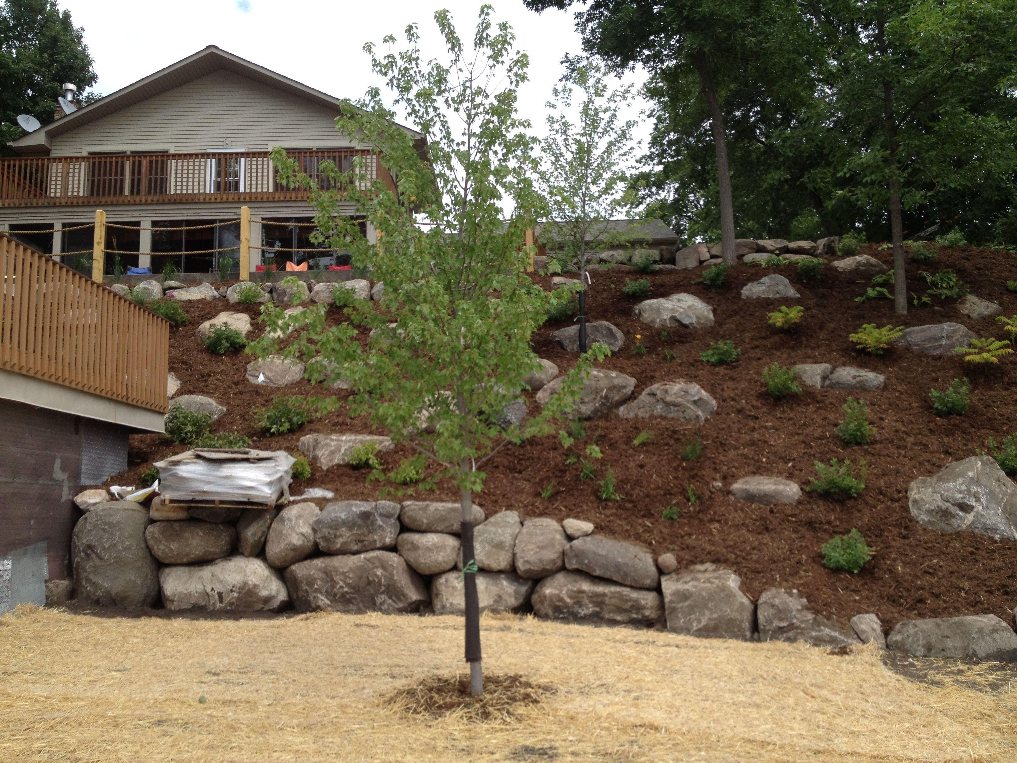 Image Result For Large Rock Hillside Landscaping Large Backyard Landscaping Steep Hill Landscaping Hillside Landscaping