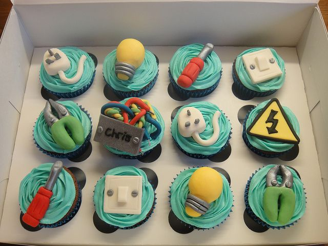 Electrians Cupcakes Cake Themed cupcakes and Food