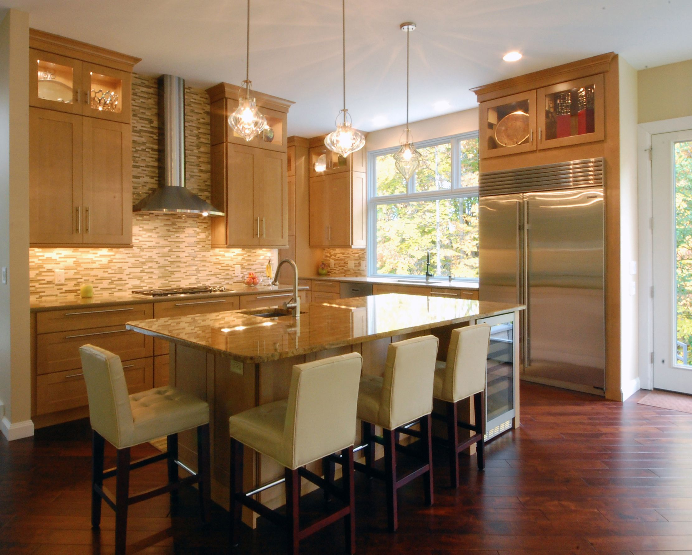 Bentleyville kitchen with maple cabinets, hardwood floors ...