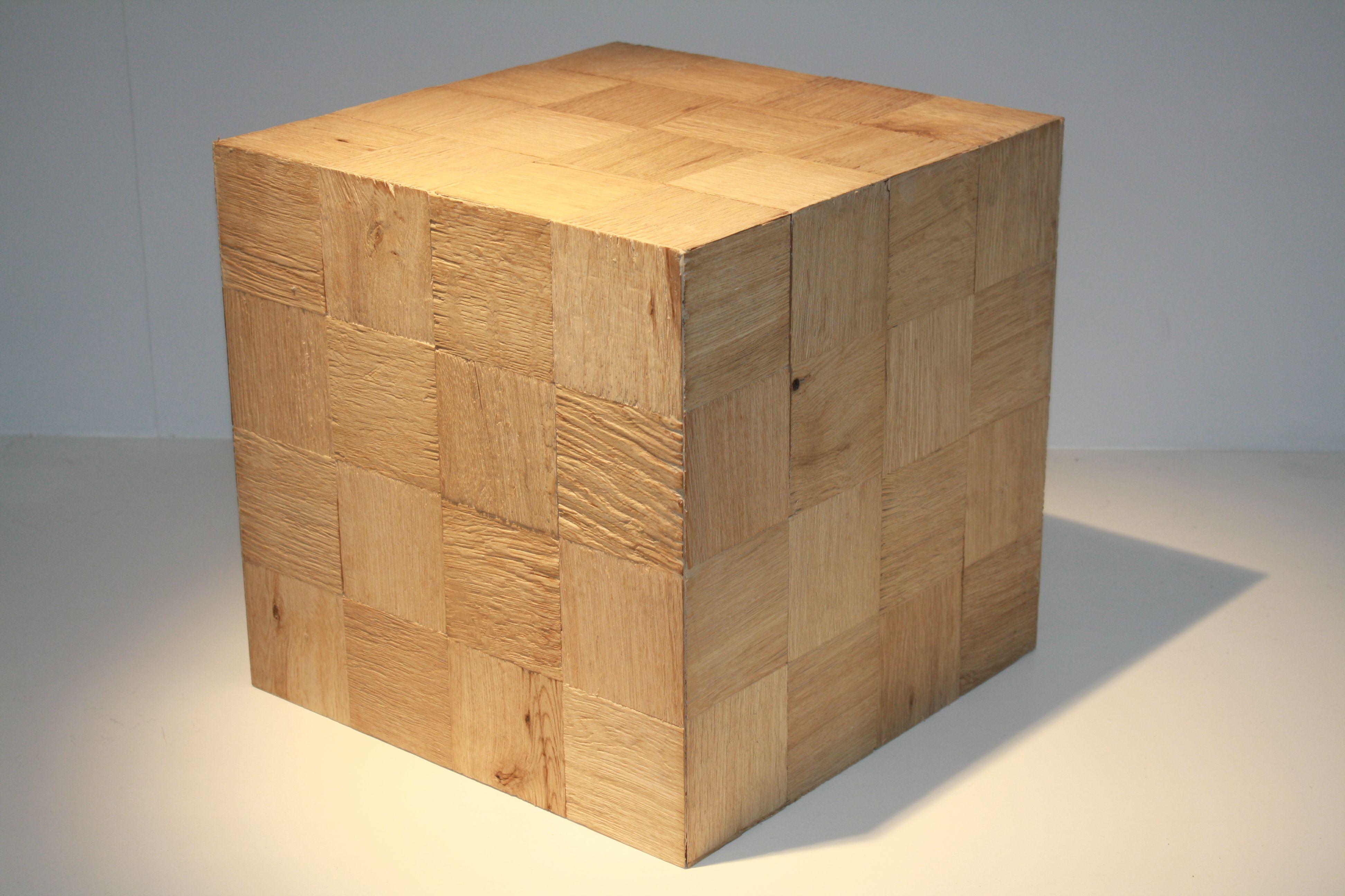 kubus 36 x 36 x 36 gekliefd eiken Kubus³