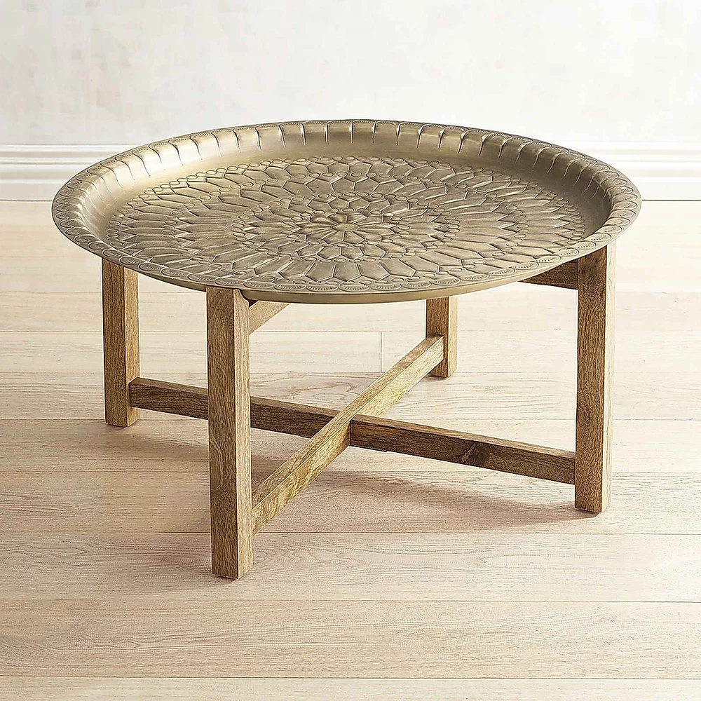 Brass Moroccan Tray Table Afamilyaffairmaine Tray Coffee Table Moroccan Furniture Round Glass Coffee Table [ 1000 x 1000 Pixel ]