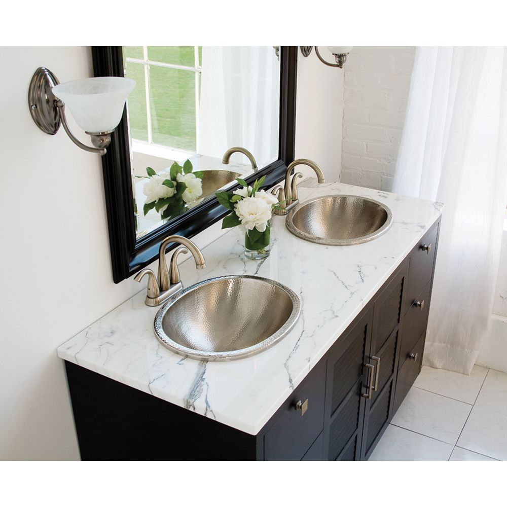 Bathroom Sinks Overstock sinkology dalton drop-in 20-inch handcrafted bathroom sink