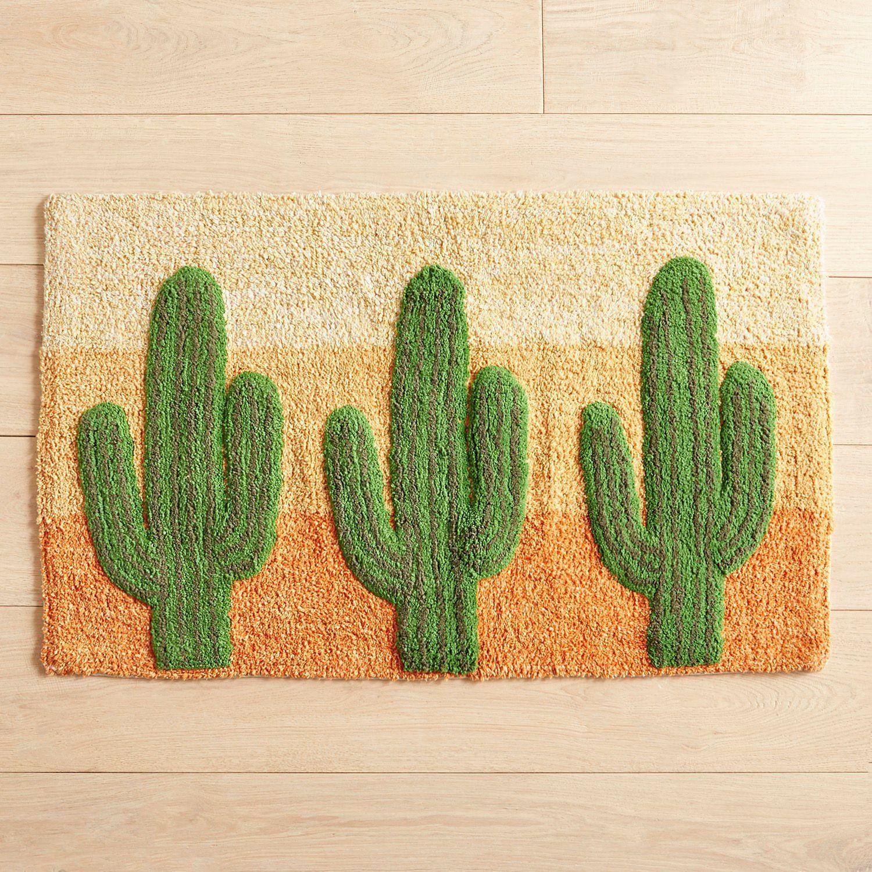 Cactus Desert Bath Rug