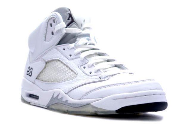ff3f36133bd5 Air Jordan 5 Retro white-metallic-silver-black