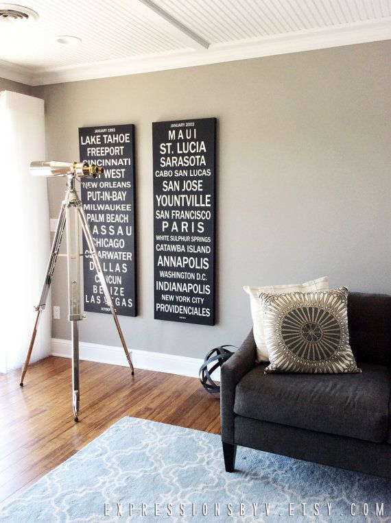 Personalized Canvas Print 20x60 Words On Canvas Typography Photo Canvas Subway Sign Canvas Personalised Canvas Personalized Canvas Print Words On Canvas