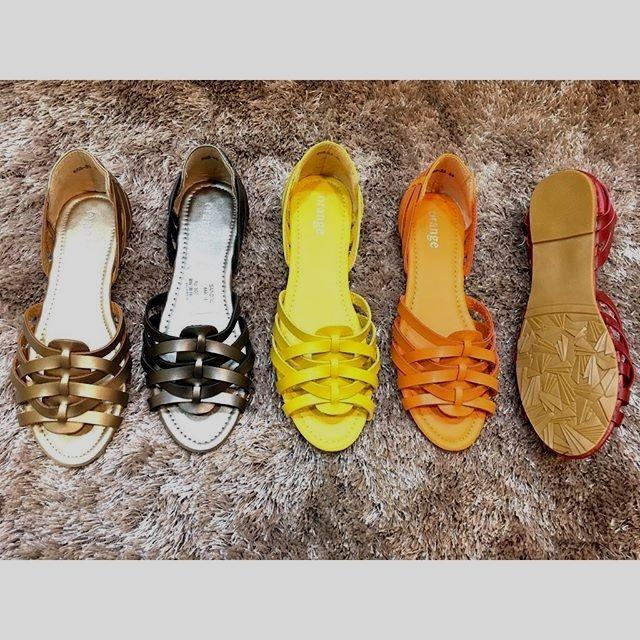 Sepatu Gold Silver Kuning Orange Mreah harga Rp 150000