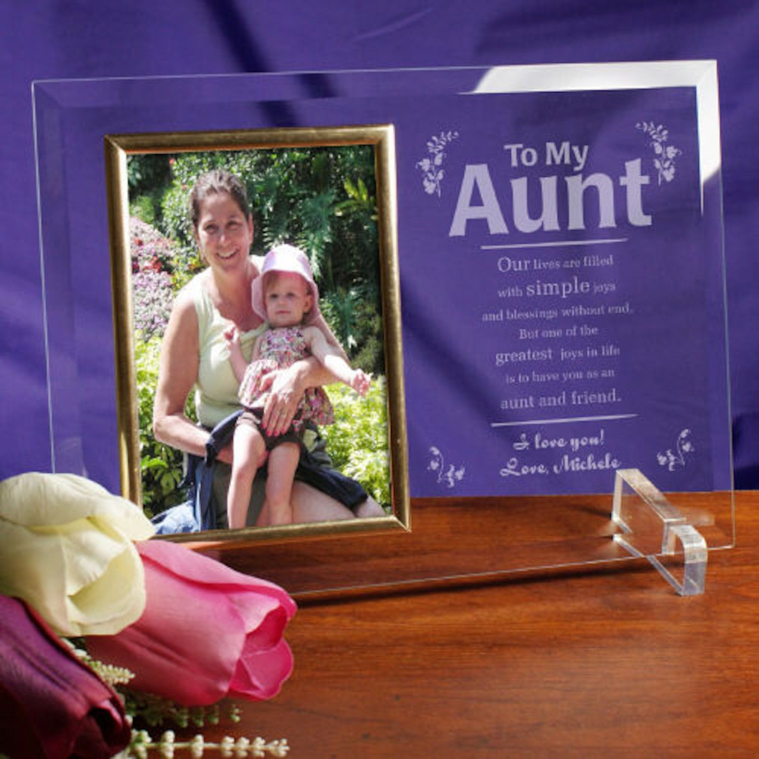 Personalized My Aunt Frame Beveled Glass | Products | Pinterest ...
