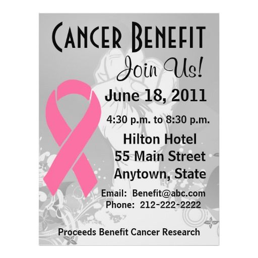 Breast Cancer Awareness Personalized Benefit Flyer by - benefit flyer templates