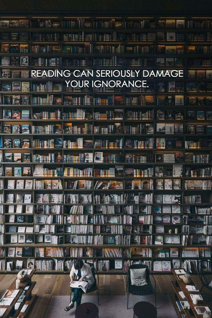 Reading can seriously damage your ignorance   Words of