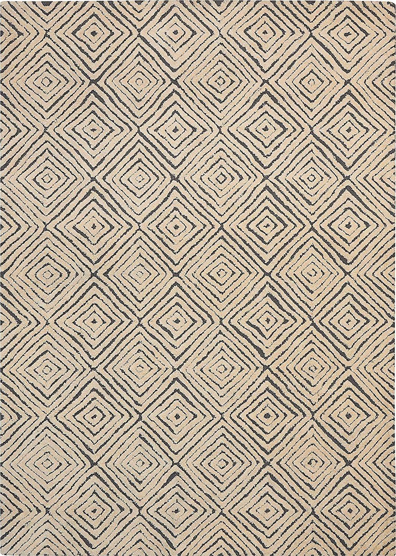 Amazon Com Rivet Contemporary Diamond Patterned Rug 7 4 X 5 3