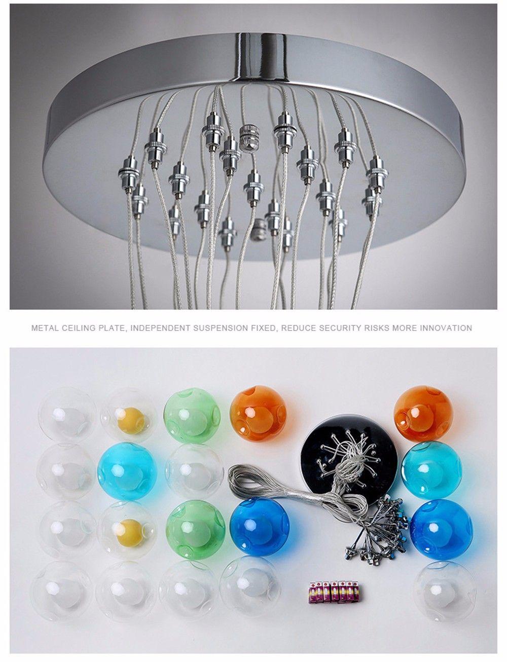2016 Modern Lighting Ball Spherical Bubble Pendant Light Glass Spherical Dragon Ball Hanging Restaurant Lamp G4 1 5w Le Cheap Pendant Lights Pendant Light Lamp