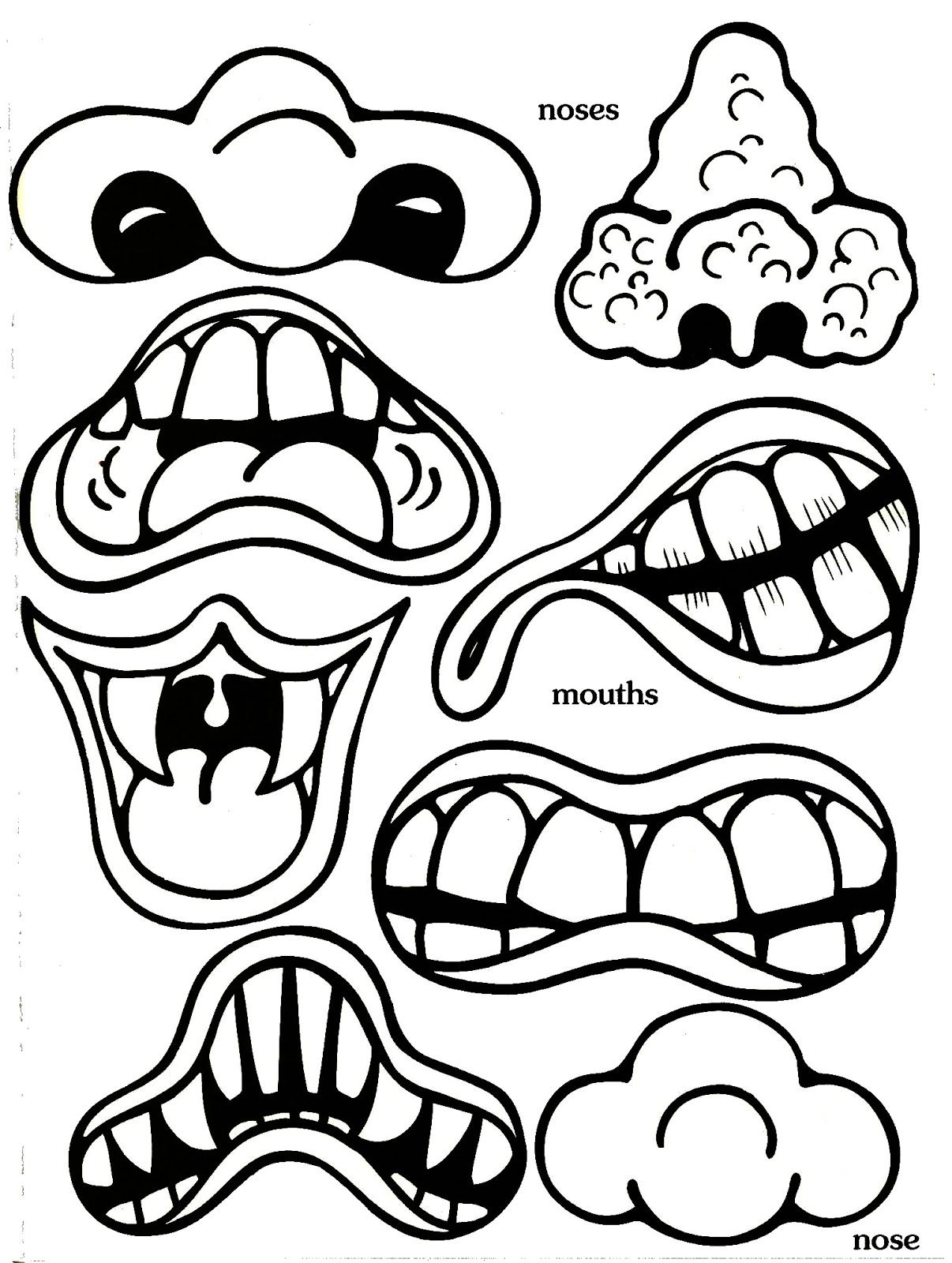printable monster face cut outs yahoo image search results