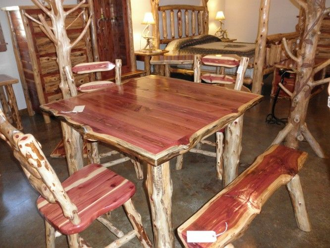 Rustic Furniture | Rustic Log Furniture Custom Built Cedar Furniture |  Stone Haus .