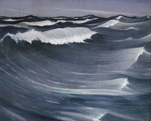 Christopher Richard Wynne Nevinson (British, 1889-1946) - Waves, 1917 - Oil on canvas
