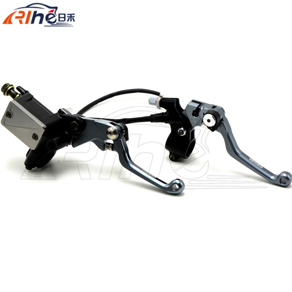 """66.73$  Buy here - http://ali8nk.shopchina.info/go.php?t=32524091367 - """"New Titanium Hydraulic Brake Cable Clutch 7/8"""""""" Dirt Bike Brake Master Cylinder Reservoir Levers For KTM 105SX 2009 2010 2011""""  #shopstyle"""