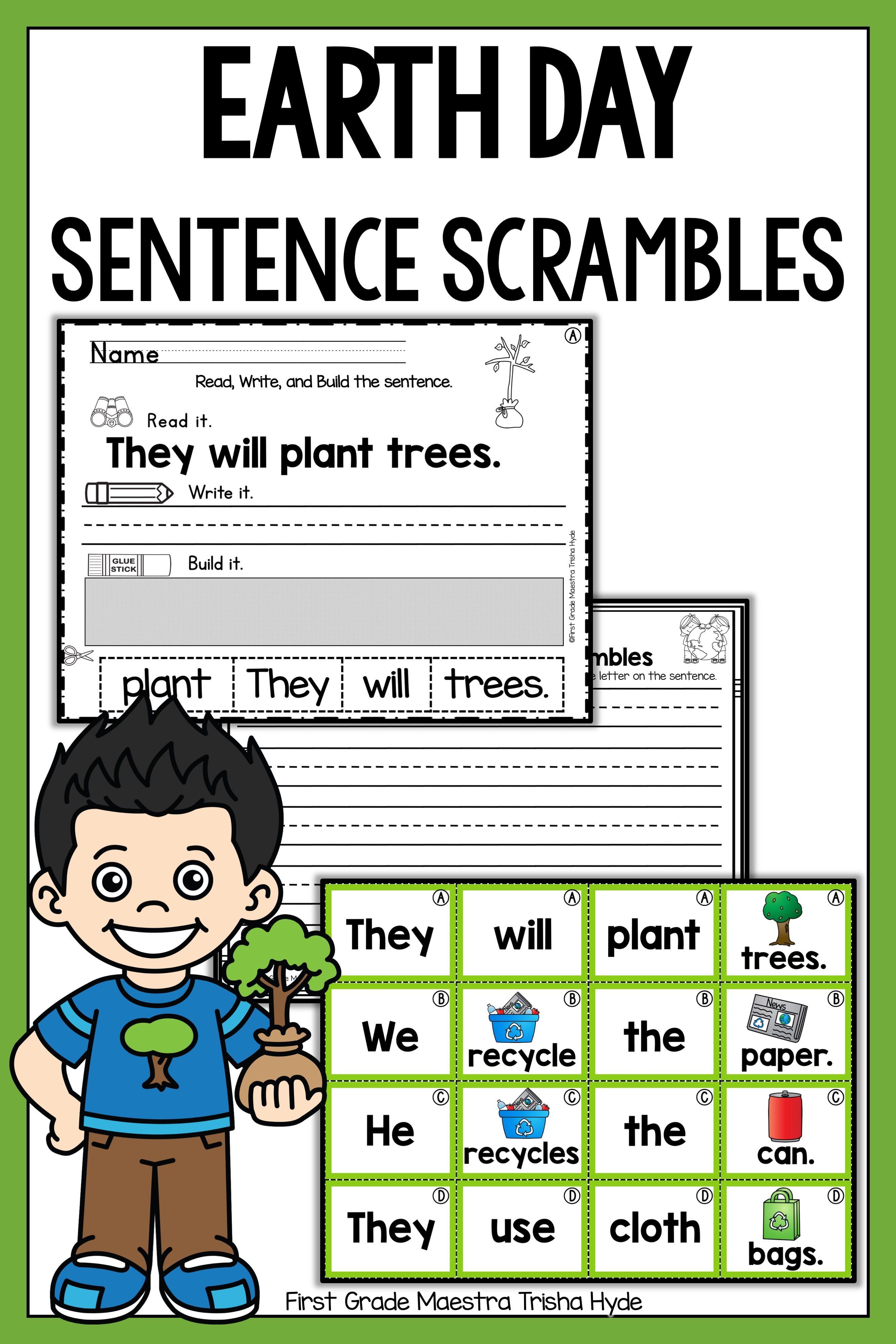 Earth Day Sentence Building Sentence Building Sentence Scramble Earth Day [ 4000 x 2667 Pixel ]