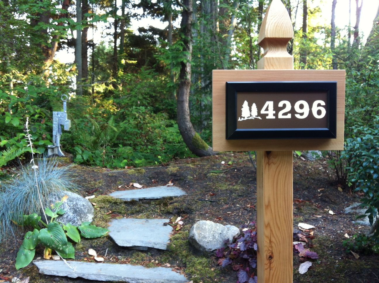 Address led weatherproof lighted signs can be mounted on a