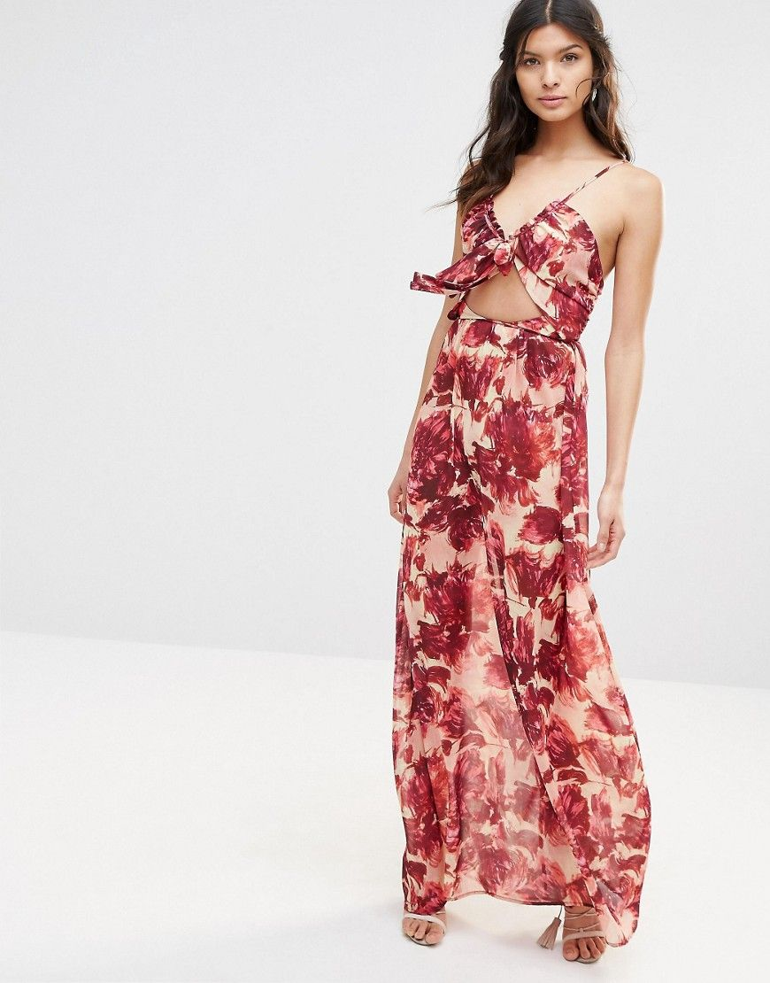 For Love And Lemons Maxi Dress In Wild Rose At Asos Com Rose Maxi Dress Maxi Dress Going Out Dresses