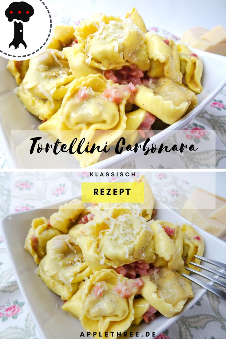 Photo of Tortellini Carbonara – Applethree   Food, Travel & Life