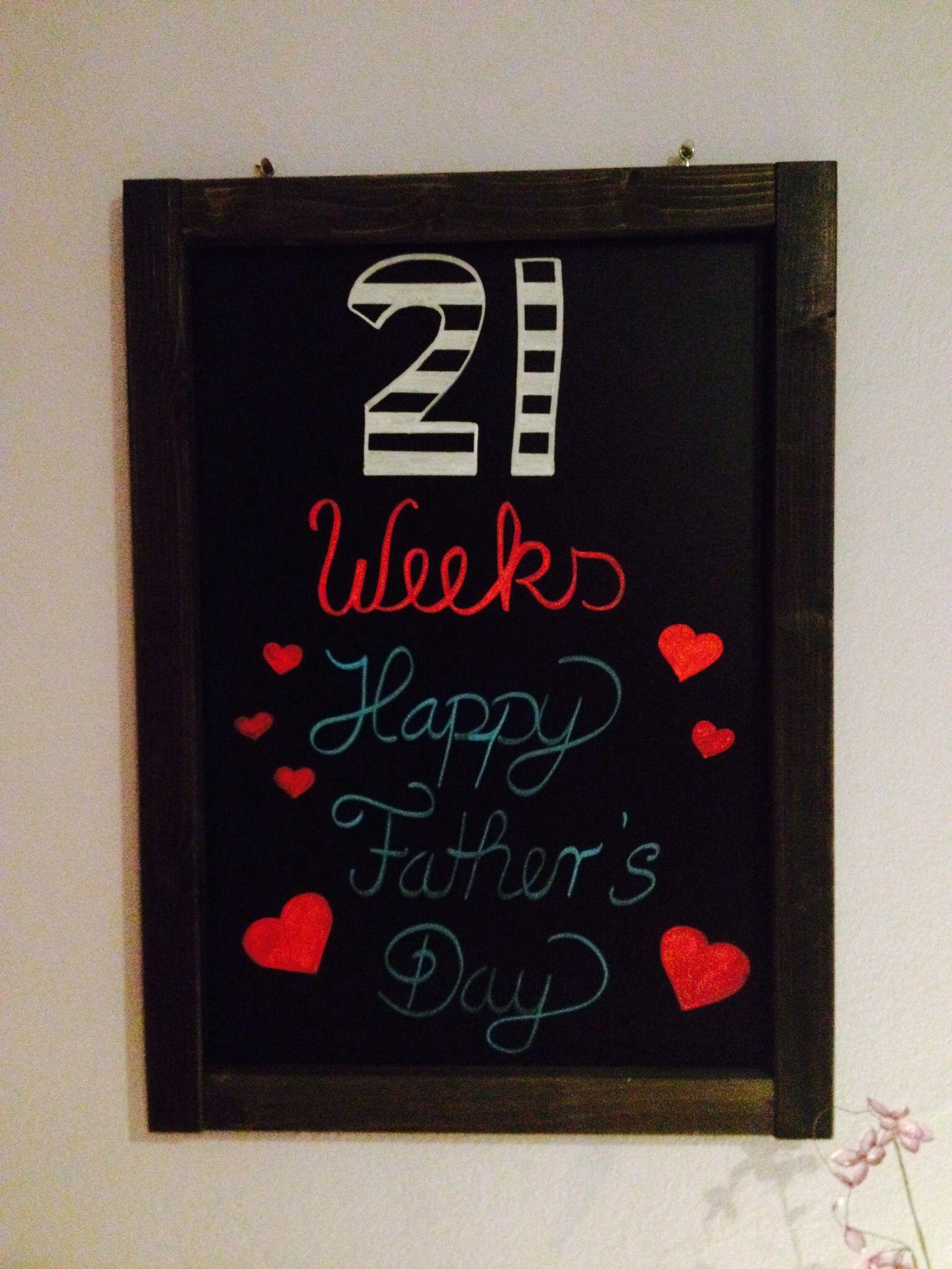 21 Weeks Pregnancy Chalkboard Template My Chalkboards Writing Boards Chalk
