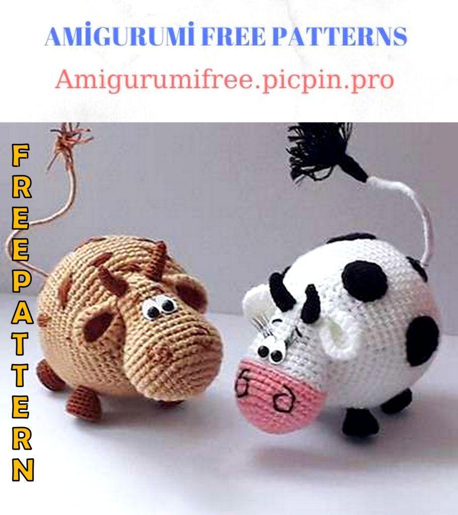 Amigurumi Cow - Free Crochet Pattern - Stella's Yarn Universe | 1024x910