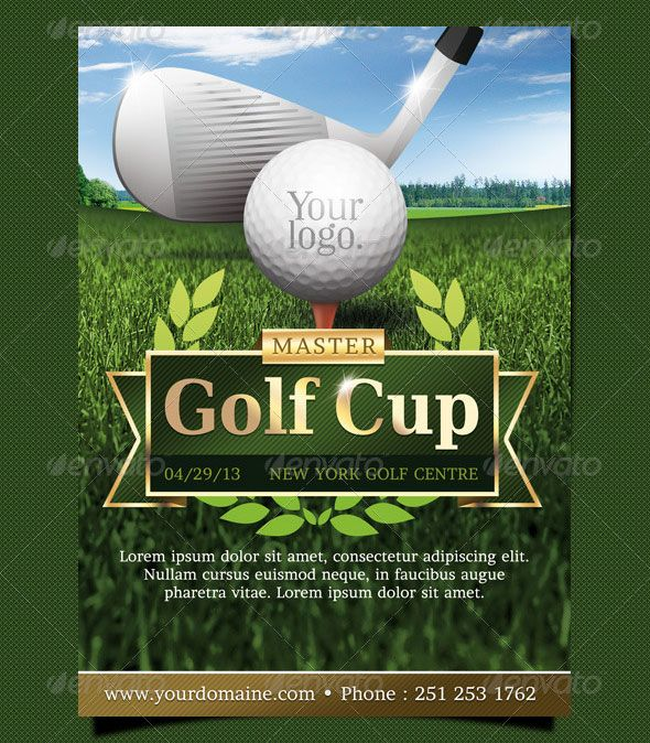 Golf event flyer template DESIGN Graphic Pinterest Event - college golf resume template