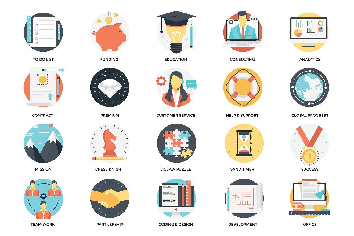 300 Flat Business Icons icon, flaticon, icons, icon pack