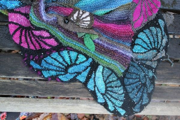 Art Deco Butterfly Poncho