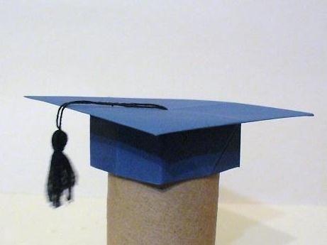 ornament origami paper graduation hat graduation ideas