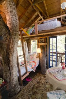 Love This Hideaway Idea I Only Need To Figure Out How To Keep The Bugs From Getting In Cool Tree Houses Tree House Designs Tree House