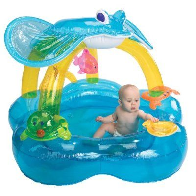 International Playthings iPlay Baby Activity Pool Inflatable Pool w/Sunshade | Kidazy.com  sc 1 st  Pinterest & International Playthings iPlay Baby Activity Pool Inflatable Pool ...