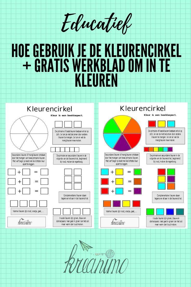 De Kleurencirkel Waarvoor Gebruik Je Dat Download Kreanimo Kleurenleer Stijl Van Beroemdheden Kunst Voor Kinderen