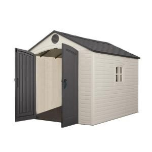 Lifetime 8 Ft X 10 Ft Storage Plastic Shed 60115 The Home Depot Outdoor Storage Sheds Plastic Sheds Lifetime Storage Sheds