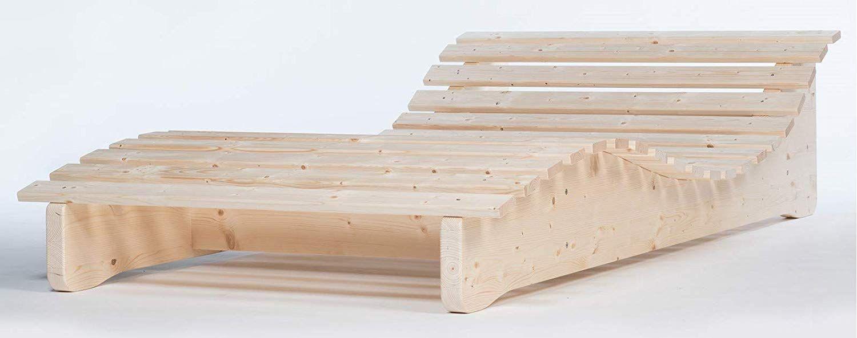 Elegant Ergonomisch Liege Naturholz Massive Relaxliege Massivholzliege Formliege Liegelänge Weiß Saunaliege Holz Holz Kaufen Wintergarten Möbel